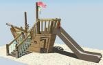 Оригинальная детская площадка Лодка 5801